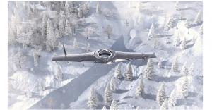 UAV cu aripi fixe și decolare/aterizare pe verticală