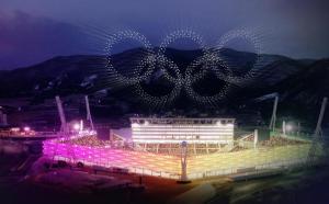 1.218 drone Intel au luminat cerul la PyeongChang