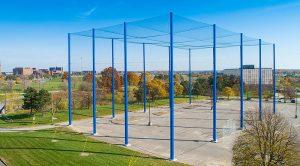 Instalație pentru teste cu dronele, amenajată în aer liber
