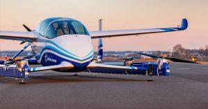 """""""Taxiul aerian"""" Boeing a efectuat primul test de zbor"""